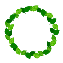 Green Leaf Wreath Clipart