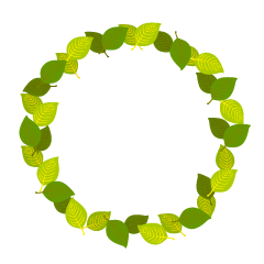 Yellow Green Leaf Wreath Clipart