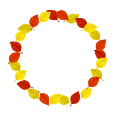 Autumn Leaf Wreath Clipart