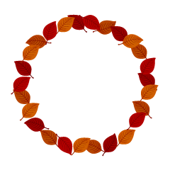 Fallen Leaf Wreath Clipart