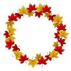 Maple Leaf Wreath Clipart