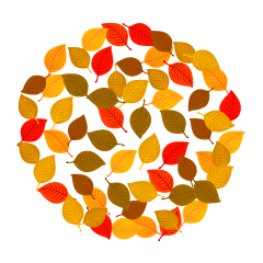 Fallen Leaves Wreath Clipart