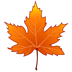 Orange Maple Leaf Clipart