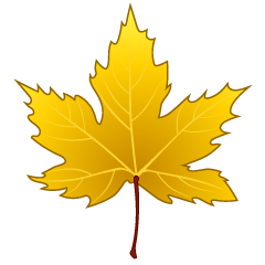Yellow Maple Leaf Clipart