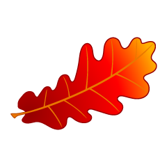 Red Acorn Leaf Clipart
