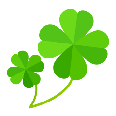 Two Four Leaf Clovers Clipart