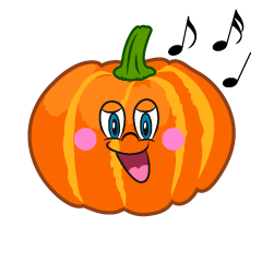 Singing Pumpkin Cartoon
