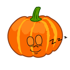 Sleeping Pumpkin Cartoon