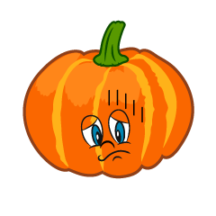 Depressed Pumpkin Cartoon