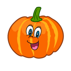 Surprised Pumpkin Cartoon