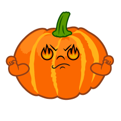 Eye Burning Pumpkin Cartoon