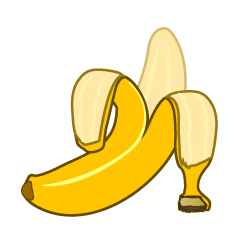 Peeled Banana Clipart