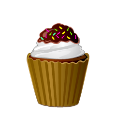 Chocolate Vanilla Cupcake Clipart