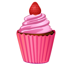 Strawberry Cupcake Clipart