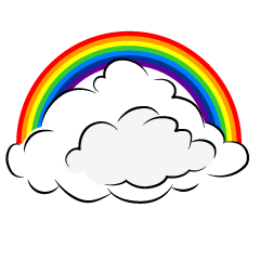 Rainbow Cloud Clipart
