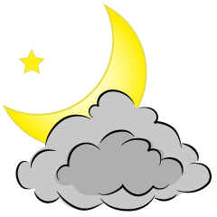 Moon Cloud Clipart