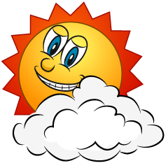 Cloud and Sun Cartoon