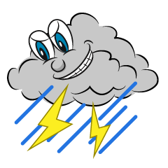 Thunder Cloud Cartoon