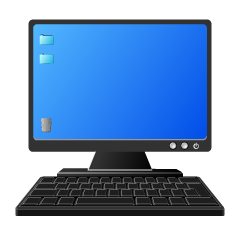 PC Monitor and Keyboard Clipart