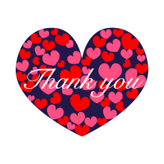 Many Hearts Thank You Clipart