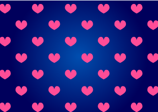 Navy and Pink Heart Wallpaper