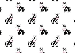 Cute Zebras Pattern Wallpaper