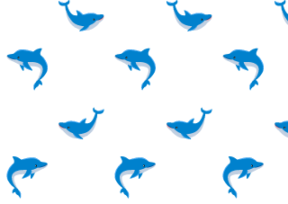 Cute Dolphins Pattern Wallpaper