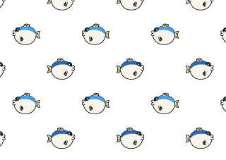 Pufferfish Pattern Wallpaper