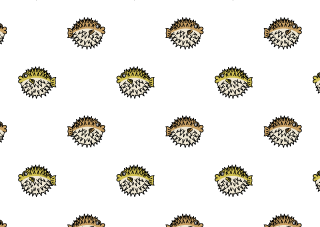 Porcupinefish Pattern Wallpaper