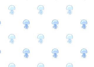 Jellyfish Pattern Wallpaper