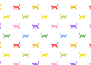 Colorful Cats Wallpaper