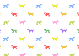 Colorful Dog Wallpaper