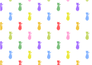 Colorful Sitting Cat Wallpaper