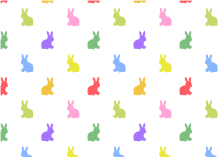 Colorful Rabbit Wallpaper
