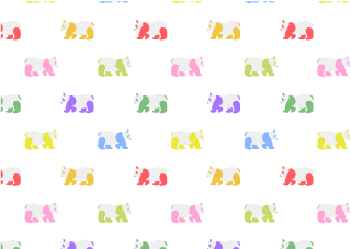 Colorful Pandas Wallpaper