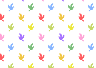 Colorful Doves Wallpaper