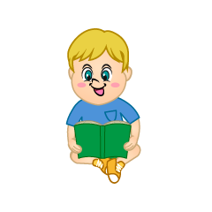 Boy Reading Clipart