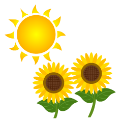 Sun and Sunflower Clipart