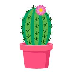 Cute Cactus Clipart Free PNG Image|Illustoon