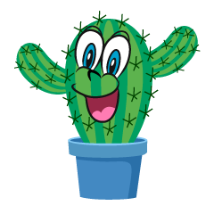 Cactus Surprised Cartoon