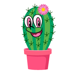 Cute Cactus Cartoon