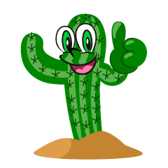 Thumbs Up Cactus Cartoon