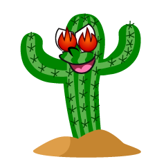 Fire Cactus Cartoon