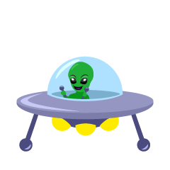 Alien and UFO Clipart