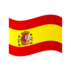Waving Spain Flag