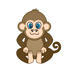 Sitting Monkey Cartoon