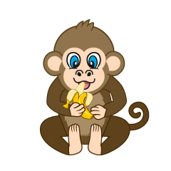 Banana Monkey Cartoon