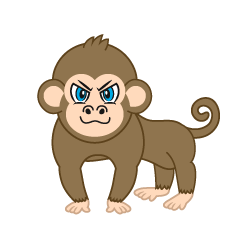 Cool Monkey Cartoon