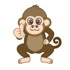 Thumbs up Monkey Cartoon