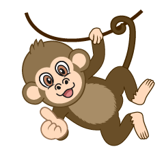 Hanging Monkey Cartoon